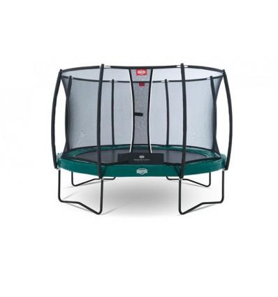 Image of   BERG Trampolin 430cm Elite+ i grøn inkl. sikkerhedsnet T-Serie