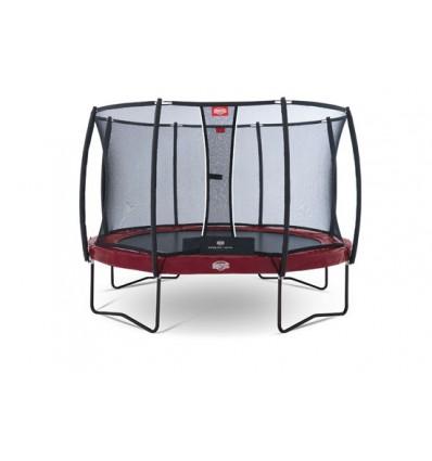Image of   BERG Trampolin 430cm Elite+ i rød inkl. sikkerhedsnet T-Serie