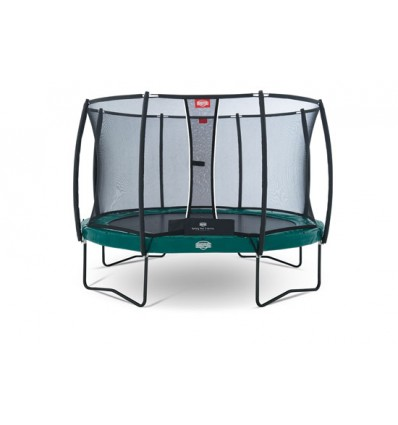 Image of   BERG Trampolin 430cm Elite+ Tattoo i grøn inkl. sikkerhedsnet T-Serie