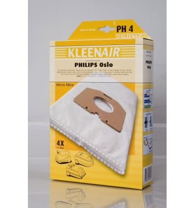 Kleenair PH 4 Støvsugerpose Philips Oslo (Microfibre)