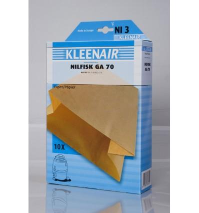 Kleenair NI 3 Støvsugerpose Nilfisk GA 70
