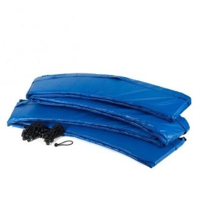 Kantbeskyttelse til trampolin blå med snor