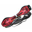 Waveboard MAXOfit® Pro XL Spider Red, op til 95kg, med LED hjul