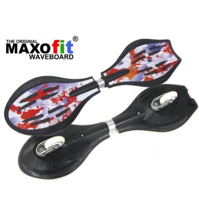 Waveboard MAXOfit® Pro XL Close Mini Fire, op til 95kg, med LED hjul