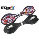 Waveboard MAXOfit® Pro Close Mini Fire, op til 129kg, med LED hjul