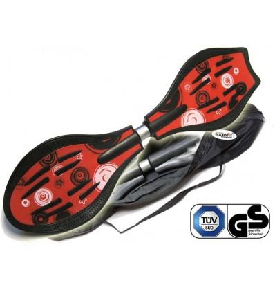 Waveboard MAXOfit® Pro Close Rot, op til 110 kg, med LED hjul