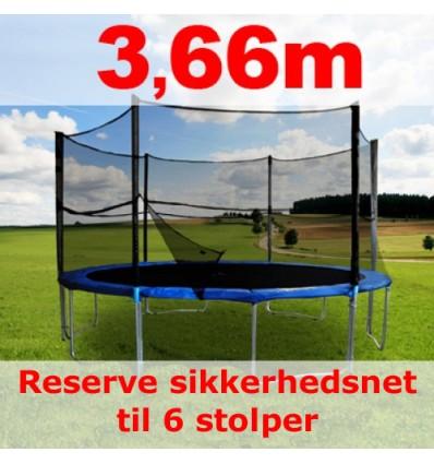 Reserve-sikkerhedsnet til 366cm trampolin uden stolper