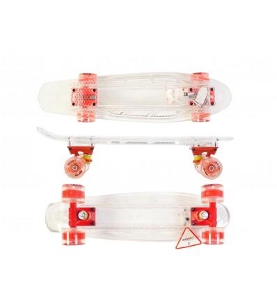 MAXOfit® LED Skateboard blau/blau