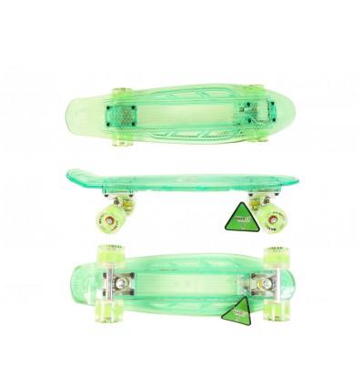 MAXOfit® LED Skateboard Grün/Grün