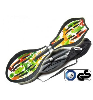 Waveboard MAXOfit® Pro Close Paint, op til 110 kg, med LED hjul