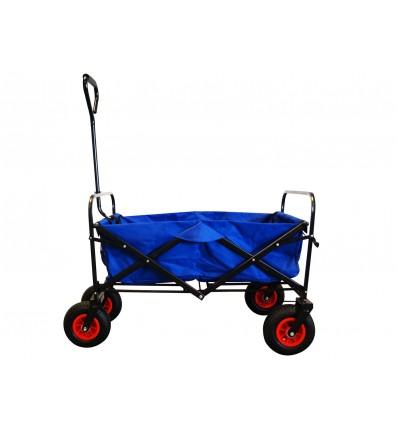 MAXOfit® Trækvogn, blå med lufthjul, op til 70 kg