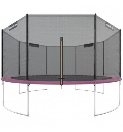 """Image of   Trampolin """"Starter"""" 430cm med sikkerhedsnet Pink"""