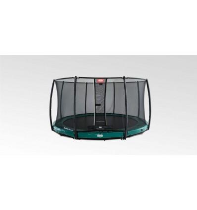 Image of   BERG Trampolin 430cm Elite InGround i grøn inkl. sikkerhedsnet Deluxe