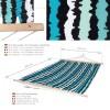 Hængekøje Riviera - 295 x 145 cm - 85% bomuld - Stribet - Med tværpind
