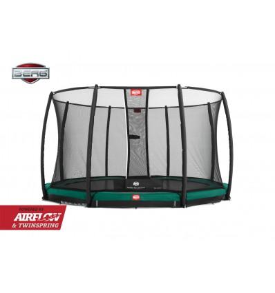 BERG InGround Trampolin Til Nedgravning 380cm Champion inkl. sikkerhedsnet Deluxe