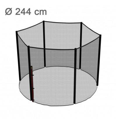 Reserve-sikkerhedsnet til klassik 244 cm trampolin med 6 stolper
