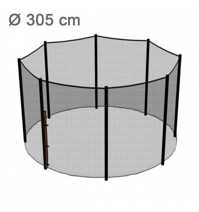 Reserve-sikkerhedsnet til klassik 305 cm trampolin med 8 stolper
