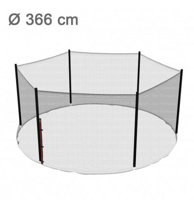 Reserve-sikkerhedsnet til klassik 366 cm trampolin med 6 stolper (uden stolper)