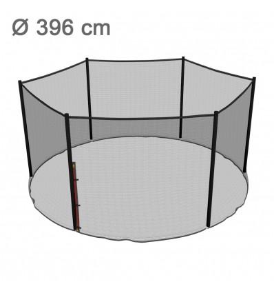 Reserve-sikkerhedsnet til klassik 396 cm trampolin med 6 stolper (uden stolper)