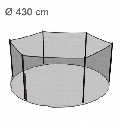 Reserve-sikkerhedsnet til klassik 430 cm trampolin med 6 stolper (uden stolper)