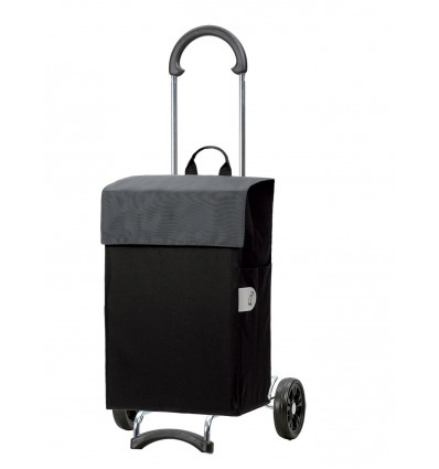 Image of Scala Shopper Hera - Indkøbsvogn Trolley på hjul grå