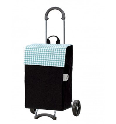 Image of Scala Shopper Iko - Indkøbsvogn trolley på hjul turkis
