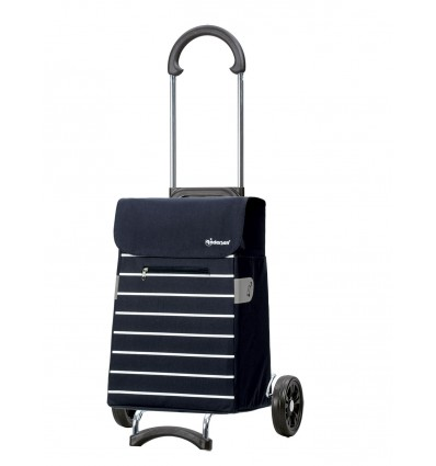 Image of Scala Shopper Lini - Indkøbsvogn trolley på hjul blå