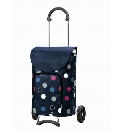 Image of Scala Shopper Kira - Indkøbsvogn Trolley på hjul blå