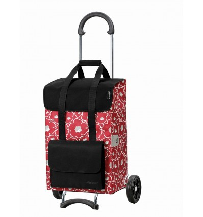 Scala Shopper Alba - Indkøbsvogn Trolley på hjul rød