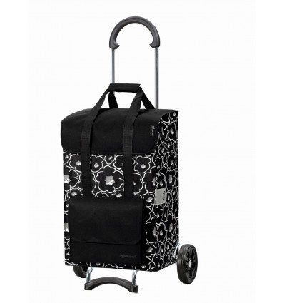 Image of Scala Shopper Alba - Indkøbsvogn Trolley på hjul sort