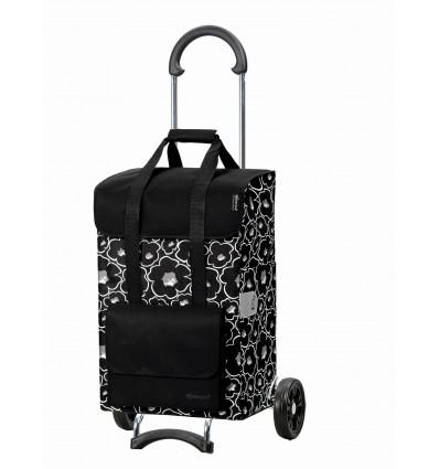 Scala Shopper Alba - Indkøbsvogn Trolley på hjul sort