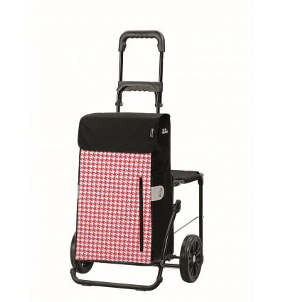 Image of   Komfort Shopper Tilly - Indkøbsvogn Trolley på hjul med sæde rød