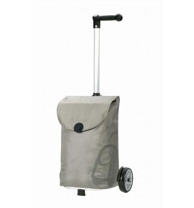 Image of   Unus Shopper Pepe - Indkøbsvogn Trolley på hjul med ergonomisk håndtag sølv