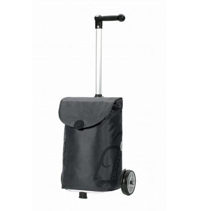Image of   Unus Shopper Pepe - Indkøbsvogn Trolley på hjul med ergonomisk håndtag grå