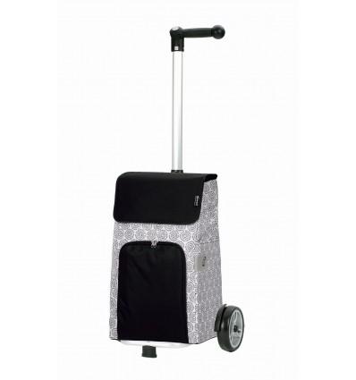 Billede af Unus Shopper Henni - Indkøbsvogn Trolley på hjul med ergonomisk håndtag Hvid