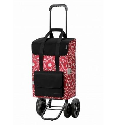 Image of   Quattro Shopper Alba - Indkøbsvogn Trolley på hjul rød