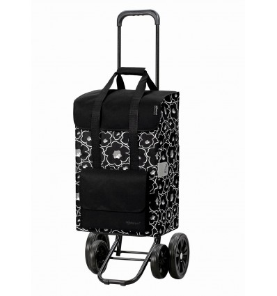 Image of   Quattro Shopper Alba - Indkøbsvogn Trolley på hjul sort
