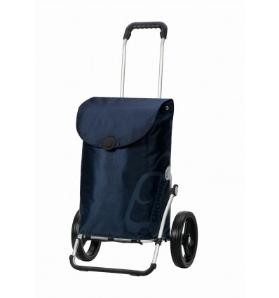 Image of   Royal Shopper Pepe (med 3-eger-hjul) - Indkøbsvogn Trolley på hjul blå