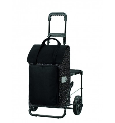 Image of   Komfort Shopper Mimi - Indkøbsvogn Trolley på hjul med sæde Guld