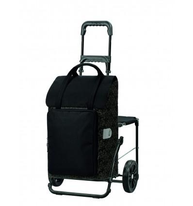 Image of   Komfort Shopper Mimi - Indkøbsvogn Trolley på hjul med sæde sort