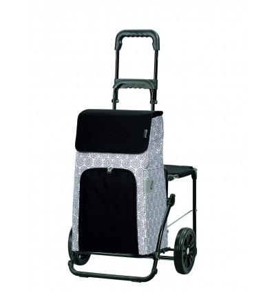 Image of   Komfort Shopper Henni - Indkøbsvogn Trolley på hjul med sæde Hvid