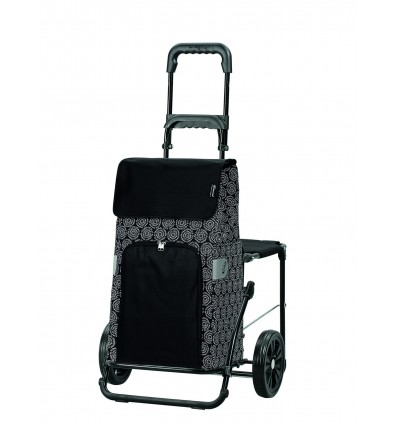 Image of   Komfort Shopper Henni - Indkøbsvogn Trolley på hjul med sæde sort