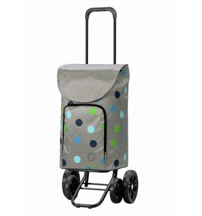 Image of   Quattro Shopper Kira - Indkøbsvogn Trolley på hjul sølv