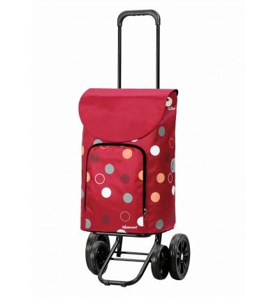Image of   Quattro Shopper Kira - Indkøbsvogn Trolley på hjul rød