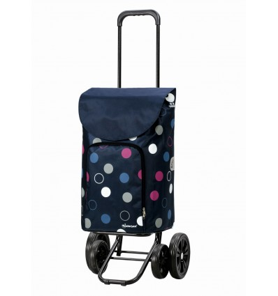 Image of   Quattro Shopper Kira - Indkøbsvogn Trolley på hjul blå