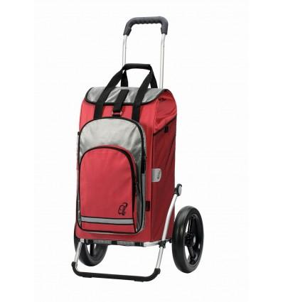 Image of   Royal Shopper Hydro ( 29 cm hjul) - Indkøbsvogn Trolley på hjul rød