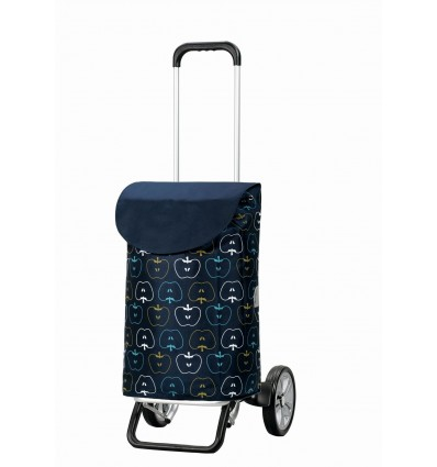 Image of   Alu Star Shopper Hava - Indkøbsvogne Trolley på hjul blå