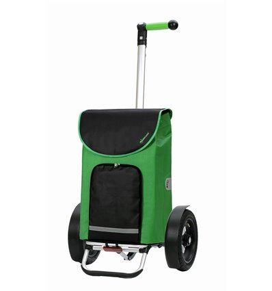 Tura Shopper Clint, lufthjul - Indkøbsvogn Trolley på hjul med ergonomisk håndtag