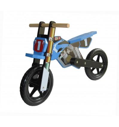 Dunjo® Træ løbecykel i Motorcorss Desgin