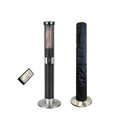 Traedgard® Infrarød terassevarmer List 1000/2000 Watt inkl. Fjernbetjent og cover